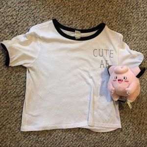 'Cute af' crop top t-shirt!